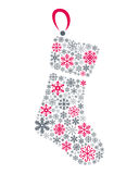 Snowflakes Christmas Sock Stock Images