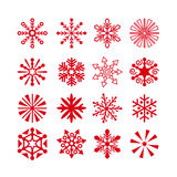 Snowflakes and Christmas stars Stock Images
