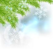Snowflakes Christmas Tree Background Royalty Free Stock Image