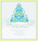 Snowflakes christmas tree Stock Images