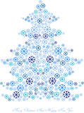 Snowflakes christmas tree Stock Photography