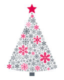 Snowflakes Christmas Tree royalty free illustration