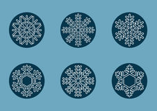 Snowflakes for Christmas. Types of beauty snowflakes for Christmas holidays Stock Photo