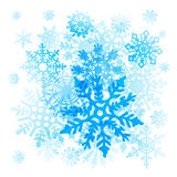 Snowflakes Christmas vector icons. collection graphic art Royalty Free Stock Image