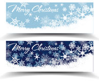 Snowflakes Christmas Web Banners Royalty Free Stock Image