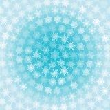Snowflakes Circles Background Stock Photos