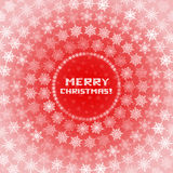 Snowflakes Circles Christmas Card Royalty Free Stock Photos