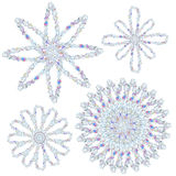 Snowflakes - with clipping path Royalty Free Stock Image