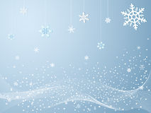 Snowflakes in cold winter. Illustration of snowflakes in cold winter Stock Photo