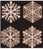 Snowflakes collection Royalty Free Stock Photos