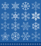 Snowflakes collection. For your design. All elements are separate. File is layered Royalty Free Stock Photos