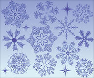 Snowflakes collection Stock Images