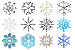 Snowflakes collection #2 stock photography