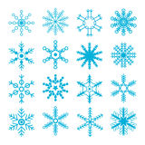 Snowflakes Collection Royalty Free Stock Photo