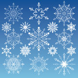Snowflakes Collection. Editable vector illustration