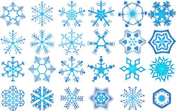 Snowflakes collection Royalty Free Stock Image