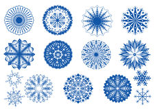 Snowflakes collection Stock Image