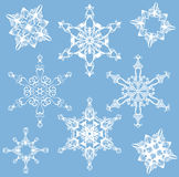 Snowflakes vector collection Stock Photography