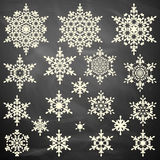 Snowflakes collection on board. EPS 10 Royalty Free Stock Photos