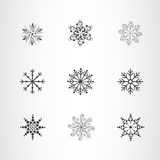 Snowflakes collection Stock Photos