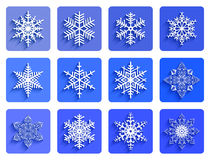 Snowflakes collection Royalty Free Stock Images