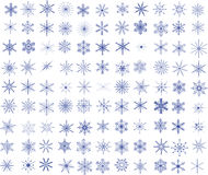 99 Snowflakes. Collection of 99 vector snowflakes Royalty Free Stock Images