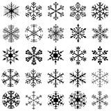 Snowflakes collection, white background stock images