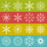 Snowflakes on color background,  Royalty Free Stock Image