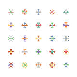 Snowflakes Colored Vector Icons 1 Royalty Free Stock Images