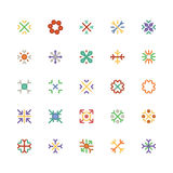 Snowflakes Colored Vector Icons 3 Stock Photos