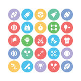 Snowflakes Colored Vector Icons 1 Stock Photos