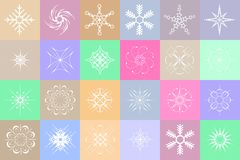 Snowflakes colorful background Royalty Free Stock Photography