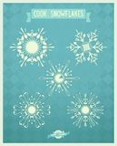 Snowflakes combo from cutlery on a vintage backgro Stock Images