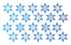 Snowflakes with congratulations Royalty Free Stock Photography