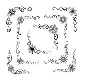 Snowflakes corners Royalty Free Stock Image