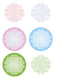 Snowflakes from cottons flowers Stock Photos