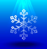 Snowflakes crystal under light  Stock Photo