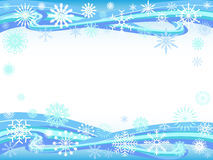 Snowflakes curve background Royalty Free Stock Image