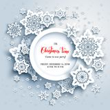 Snowflakes cut card Royalty Free Stock Photography
