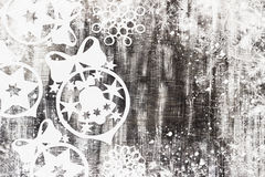 Snowflakes cut out of paper on dark background with space for text Christmas theme Royalty Free Stock Photo
