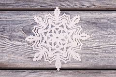 Snowflakes cut from paper. Stock Photo