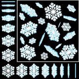 Snowflakes 3D Vector Illustrations Set Royalty Free Stock Images