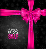 Snowflakes Dark Background for Black Friday Sales Royalty Free Stock Photo