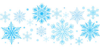 Snowflakes decorative element Royalty Free Stock Photo