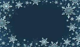 snowflakes den blåa julen inramniner magi för illustrationvektor för bakgrund härlig vinter arkivfoto