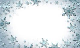 snowflakes den blåa julen inramniner magi för illustrationvektor för bakgrund härlig vinter arkivbilder