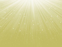 Snowflakes descending on a path of light. EPS 8 Stock Image