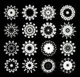 Snowflakes for design artwork. stock photos