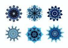 Snowflakes for design artwork. Stock Image