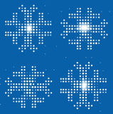 Snowflakes_digital_background. Snowflakes on the digital background. Vector illustration Stock Image